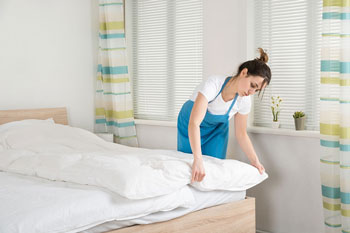 Cleaning the bed